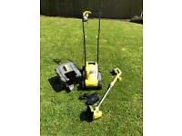 Cordless electric mower and trimmer
