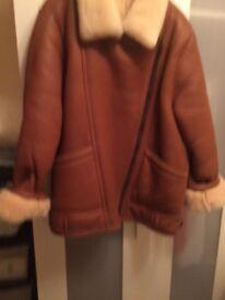 Sheepskin leather jacket size 12