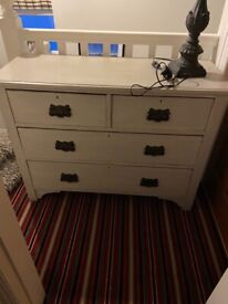 Edwardian painted Pine Chest of Drawers from Chatsworth House Sale BARGAIN