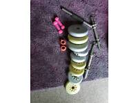 Various weights and bars