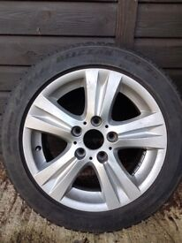 4 genuine BMW alloy wheels & good Winter Tyres