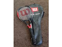 Wilson Tennis Racket with cover good condition