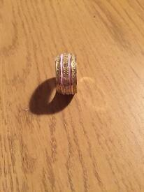 Pink and silver ring