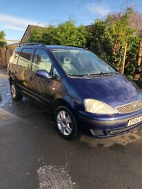 2004 Ford galaxy in blue. Lovely family car