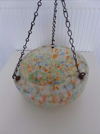 Vintage glass hanging ceiling light shade