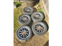 "18"" Deep dish alloys 5x120 Vw T5 T6 Bmw Insignia vivaro range rover and others"