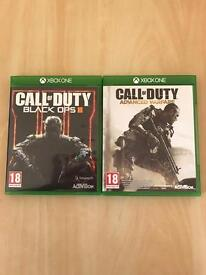 Call of duty black ops 3 & advanced warfare for Xbox one