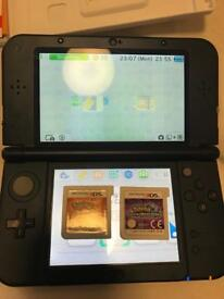 New Nintendo DS XL with Pokemon Ultra Moon and Pokemon Sun