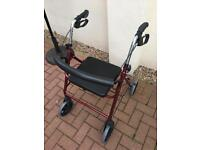 Folding 4 Wheel Mobility Walker With Seat