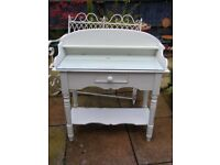 Old Glass Top Table/Washstand - Shabby Chic Or Upcycle Project
