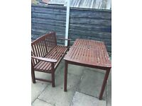 Garden bench and table for free
