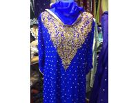 Heavy long dress party asian dresss sale 70% to wedding Indian Pakistani