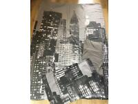 New York single duvet set with pillow case & sheet