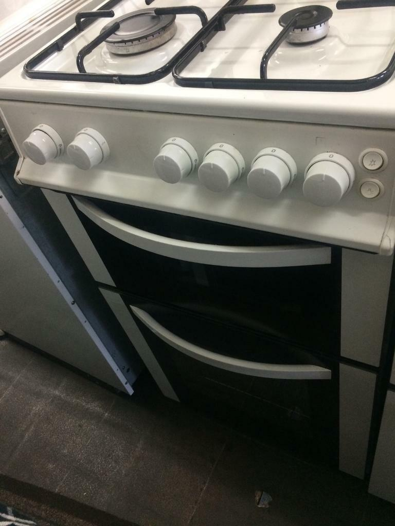 White logic 50cm gas cooker grill & oven