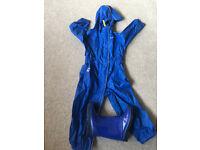 Gelert Blue Puddle suit and M&S Wellingtons