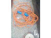 Electric hook up cable for caravan