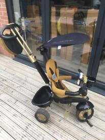 Smartrike tricycle with touch steering gold/black