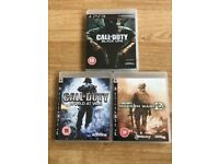 Call of Duty x3 PS3 Games