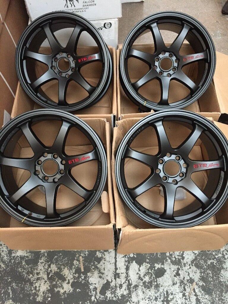 17 inch GTR SPORT ALLOY WHEELS ALLOYS/RIMS IN BLACK Racing ...
