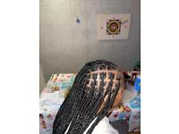 Freelance mobile hairstylist serving london! Feedin braids, box braids, sew ins, natural hair