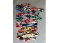 Alot of power ranger figures and a sword !!