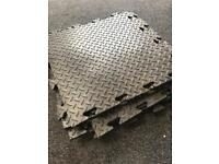 Protective flooring tiles 53cmX52.5cm sold in packs of 9