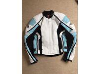 Hein Gericke ladies leather motorcycle biker jacket