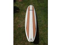 "Hawaiian Soul 7'10"" minimal surfboard, fins, bag and leash - Good condition"