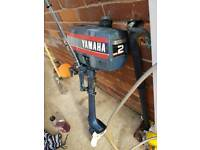2 Yamaha 2hp outboard engine very light weight