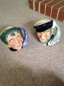 Two Toby hugs Royal doulton Capt aha and the fortune teller