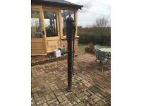 Antique cast iron village garden pump