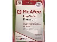 MCAFEELiveSafe Premium 2018