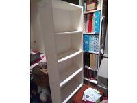 Tall white bookcase, bookshelf, storage