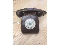 Vintage BT Rotary Dial Brown Phone 8746F