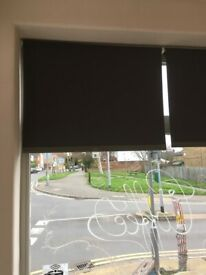 3 modern Roller Blinds stylish grey