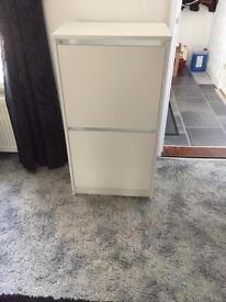White Two Door shoe storage