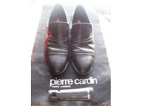 "Mens ""Pierre cardin"" black shoes £8"