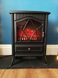 Log burner effect electric heater - hardly used