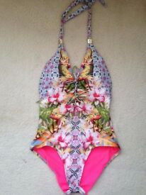BUTTERFLY by MATTHEW WILLIAMSON TROPICAL SWIMSUIT. UK 10 IN VGC
