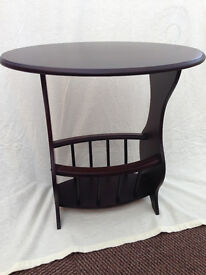 Oval Table with paper rack