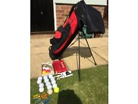 Junior golf clubs, bag & accessories