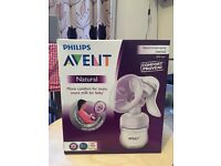 Philips Avent SCF330/20 Natural Comfort Breast Pump & Bottle - Brand New!
