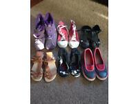 6 pairs Girls shoes boots job lot bundle size 1