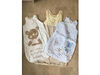 3 baby gro bags or sleeping bags age 6-12 months
