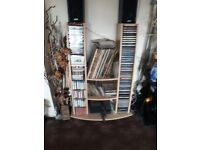 Wooden Music Stand for Vinyl,CD,Cassette,DVDs.