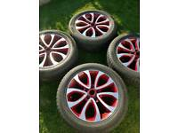 Alloy wheels and tyres J7x17 H2 ET47