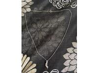 Silver necklace with silver and cz pendant