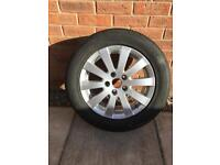 """17"""" VW alloy with new tyre"""