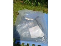 Brand new never been used hood and apron cover for a child's buggy