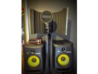 Full Recording Studio (KRK RODE LYX FOCUSRITE)